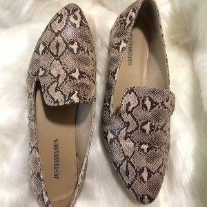 JustFab python loafers